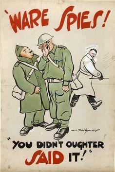 """""""War Spies"""" UK Artist:  Bert Thomas INF3-240 c. 1939-1946"""