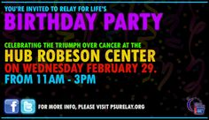Relay For Life: Birthday Party!