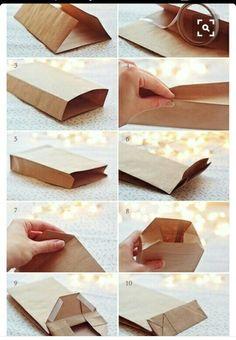 Sacolinha de papel. Faca você mesmo as sacolinhas, fácil e econômico.