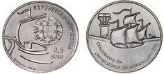 """Imagem da moeda de colecção: """"Centenário da Universidade de Lisboa"""""""