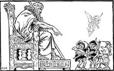 Illustrations from The Heroes of Asgard by C.E. Brock Odin commands the elves and the dwarves