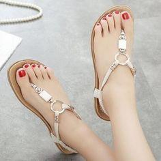 Simple Buckle Pu Low Heel Ultra Flats Shoes