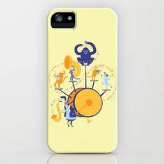 One man (five monkey) band iPhone & iPod Case