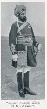 Risaldar Kaddam Khan 4th Bengal Cavalry