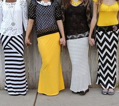 Inspired Trendy Maxi Skirts | andRuby