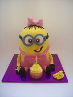 Girl Minion Cake from http://temptationcakes.co.nz/