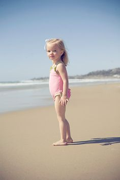 sweet little beach girl