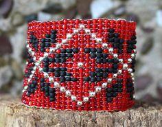 Beaded braceletpopular winter ornament by LoretaBlueMint on Etsy Handmade Jewelry, Unique Jewelry, Handmade Gifts, Friendship Bracelets, Beaded Bracelets, Trending Outfits, Ornaments, Winter, Etsy