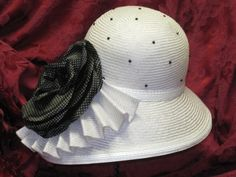 Brim and Crown Hats - Cloche w/ Silk Rose - McConnell