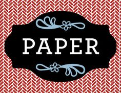 PAPER Magnet Label for recycling by RichardCreative on Etsy, $4.95