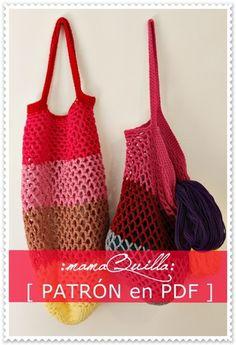 PDF Patrón Bolsas de Compras — :mamaQuilla: Diseñado por Julia Mackeprang  Consultas a mqartesaniastejidas@gmail.com