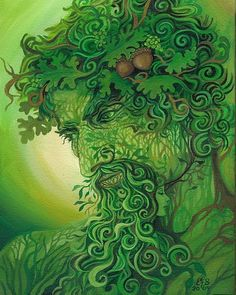 Green Man by Emily Balivet, via Etsy