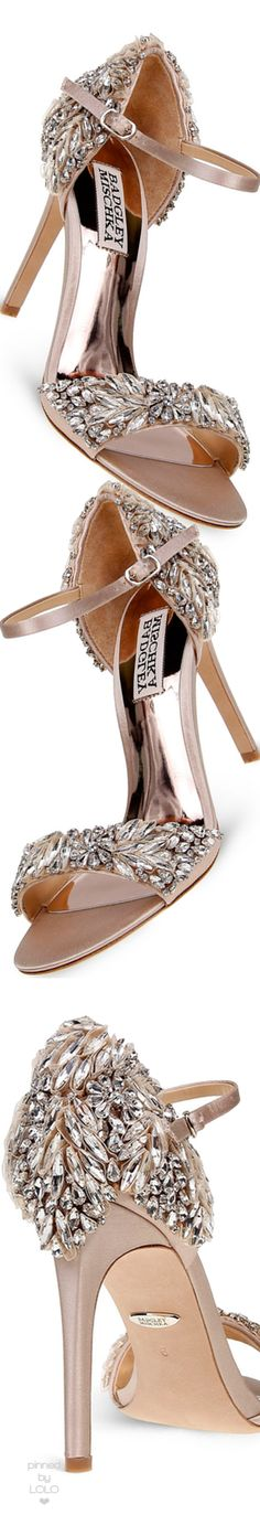 Badgley Mischka Women's Tampa Embellished d'Orsay Ankle Strap Sandals