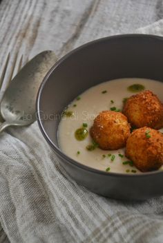 La Cucina di Stagione: Frittelle di baccalà su vellutata di fagioli D.O.C. di Terraseo (CI)