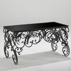 Michel Zadounaisky 1930's French Wrought Iron Coffee Table