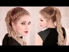 @Nikkiviolinist Look Spiral braid ★ High ponytail hairstyle for long hair ★ Carousel - YouTube