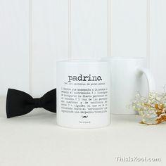 """Taza - """"PADRINO"""" Para regalar a vuestro Padrino de Boda. Regalo original y práctico para vuestro Padrino de boda."""