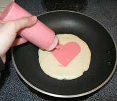 Valentines pancakes or waffles
