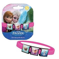 Disney Frozen Bracelet with Elsa, Anna, Sven and Olaf Charms - Pink,Small,Pink * Want additional info? Click on the image.