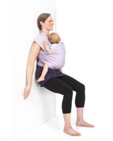 Postpartum exercises while using a carrier