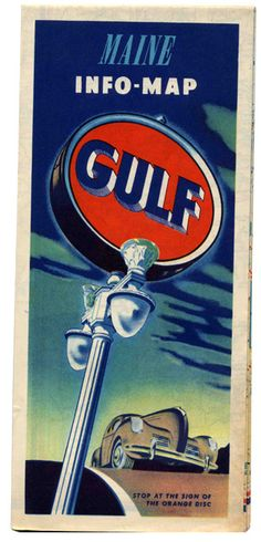 Classic Gulf Oil Road Map. Such a perfect color palette, without any help from Photoshop. Amazing.