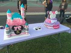 Baby shower, Minnie Mouse, diaper cakes