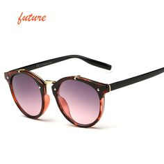 2015 빈티지 라운드 선글라스 여성 브랜드 디자이너 안경 UV400 그라데이션 여성 복고풍 태양 안경 Oculos 드 졸 Feminino Gafas