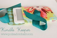 Kindle case tutorial, including how to laminate fabric with iron on vinyl.  I might make this for the iPad.