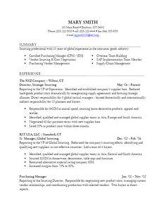 sample global sourcing resume for more resume writing tips visit wwwlifeworksearchcom - Warehouse Distribution Resume