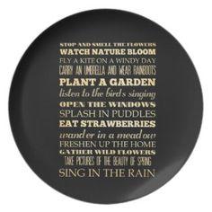Inspirational Art - Spring Season Party Plate