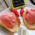 Sorbet fraise & rhubarbe - Aud' à la cuisine
