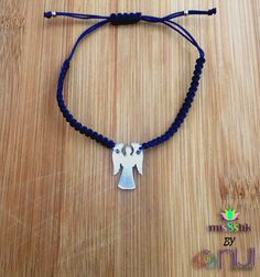 Missstik Series, Zadkiel ( Archangel) Dark Blue Bracelet / Macrame Bracelet /Plexi / Angel Bracelet / Hand Made Archangel Zadkiel, Clutch Bag, Dark Blue, Pouch, Beads, Trending Outfits, Unique Jewelry, Bracelets, Handmade Gifts