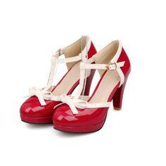 Carol Shoes Fashion T Strap Bows Womens Platform High Heel Pumps Shoes (11, Red) Carol Shoes http://www.amazon.com/dp/B018NAVFLG/ref=cm_sw_r_pi_dp_KjuKwb19XEDNW