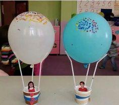 Balon Preschool Room Decor, Preschool Crafts, Educational Activities, Toddler Activities, Tree Crafts, Paper Crafts, Diy Projects For School, Diy For Kids, Crafts For Kids