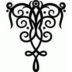 Silhouette Design Store - View Design #47948: folk art flourish