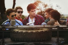 One Direction Live While We're Young sun set,,,, oh no Lou is driving again!!!!!!!!!!!!!!!!! Someone call for help