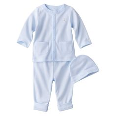 PRECIOUS FIRSTS�Made by Carters� Newborn Boys' 3 Piece Layette Set - Blue