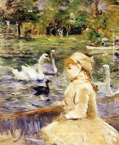 Berthe Morisot Young girl boating, 1884, painting Authorized official website