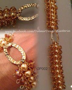 Cristal facetado, perlas de cristal y baño de oro Precio mayoreo
