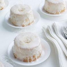 Not quite cakes, and not quite cupcakes, these single-serving treats are fun alternatives to the traditional wedding dessert. Be sure to have small boxes on hand so guests can take home extras. Recipe: Mini Angel Food Cakes   - Delish.com