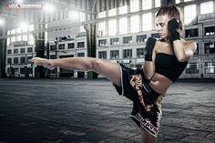 Kick Boxing Girl by Luca Lombardi