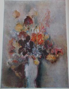 Margareta Sterian, #flower #painting Art Database, True Art, Abstract, Flowers, Painting, Summary, Painting Art, Paintings, Royal Icing Flowers