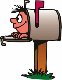 post office worker clip art carrier delivering mail into a rh pinterest com christmas mailbox clipart christmas mailbox clipart