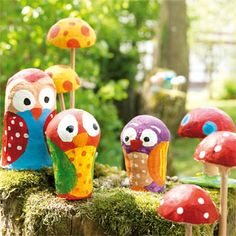 Modellier-Set Pilze/Eulen, ergibt 10 Figuren, Neuheiten im JAKO-O Online Shop