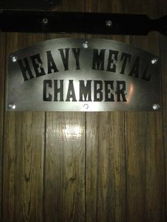 #Heavy #metal #chamber sign. Heavy Metal, Signs, Music, Image, Decor, Musica, Decorating, Musik, Heavy Metal Music