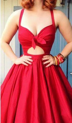 Red Deep V Neck Bowknot A Line Strapless Sexy   cutedressy Sexy Dresses, Cute Dresses, Beautiful Dresses, Short Dresses, Prom Dresses, Formal Dresses, Wedding Dresses, Junior Homecoming Dresses, Floor Length Dresses