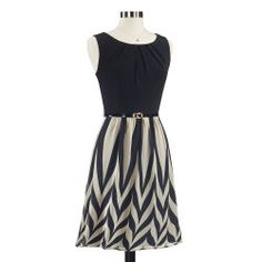 Black and Tan Chevron Dress
