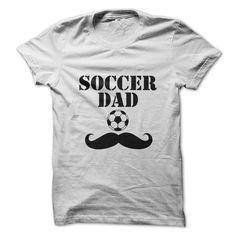 Soccer Dad Mustache White Tshirt