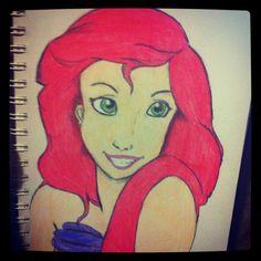 Ariel in color pencil :)