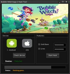 Bubble Witch Saga 2 Hack Tool (Android/iOS)   Bubble Witch Saga 2 Hack Tool(Android/iOS)  We want to present you an amazing tool calledBubble Witch Saga 2 Hack Tool.With ourBubble Witch Saga 2 Traineryou canget unlimited Gold Bars and Lives.Our soft works on allAndroidand iOS devices. It does not require any jailbreak or root. OurBubble Witch Saga 2 Cheatis very easy to use. Just Connect your device select the device check the options you want to add click on the buttonStart Hackand youre…